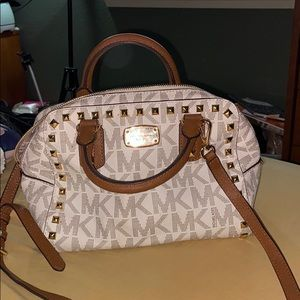 Michael kors studded signature bag